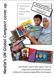 Nestlé UN Global Compact cover up