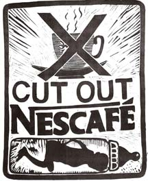 Cut out Nescafé