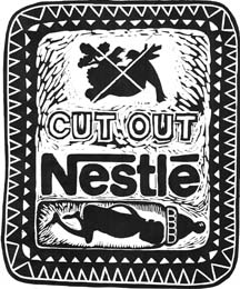 Cut out Nestlé logo
