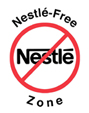 Nestle-Free Zone logo