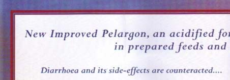 Pelargon: Diarrhoean and its side-effects are counteracted