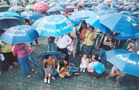 Philippines umbrellas