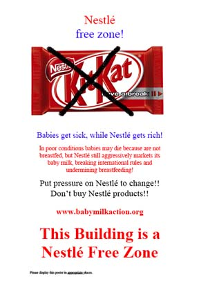 Nestle free zone - Kit Kat